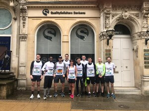 QualitySolicitors Davisons team in their running gear ready for the Birmingham Half-Marathon