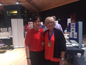 Louise with the Mayor of Stratford-upon-Avon